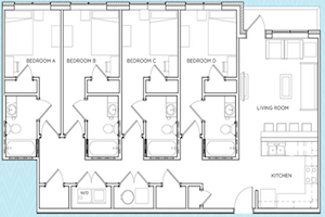 4 Bedroom College Apartments Near Uga The Mark Athens
